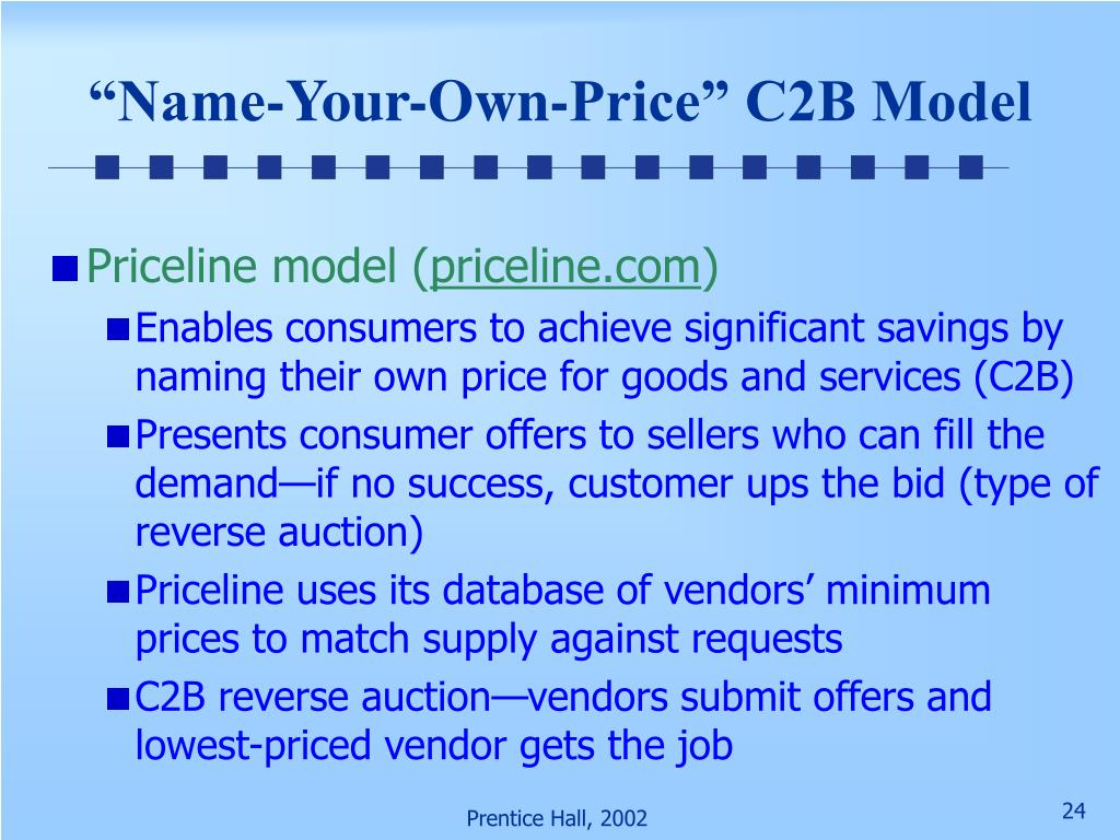 """Name-Your-Own-Price"" C2B Model"