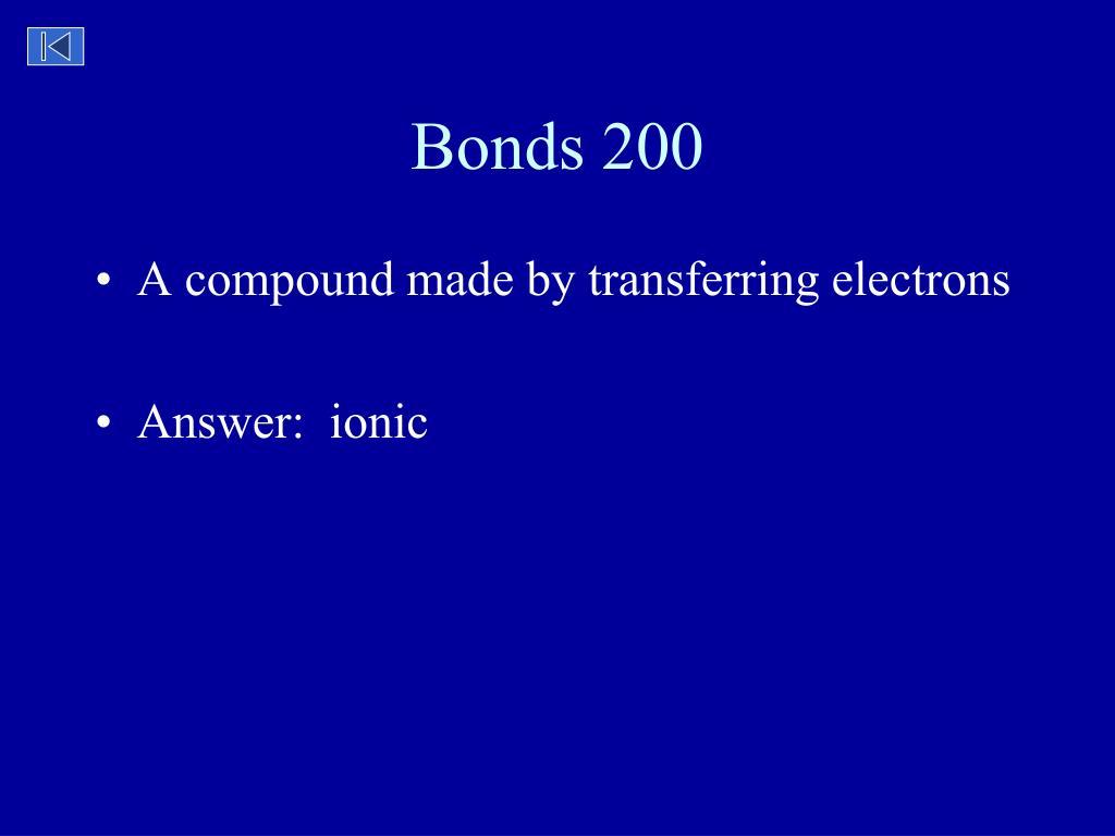 Bonds 200
