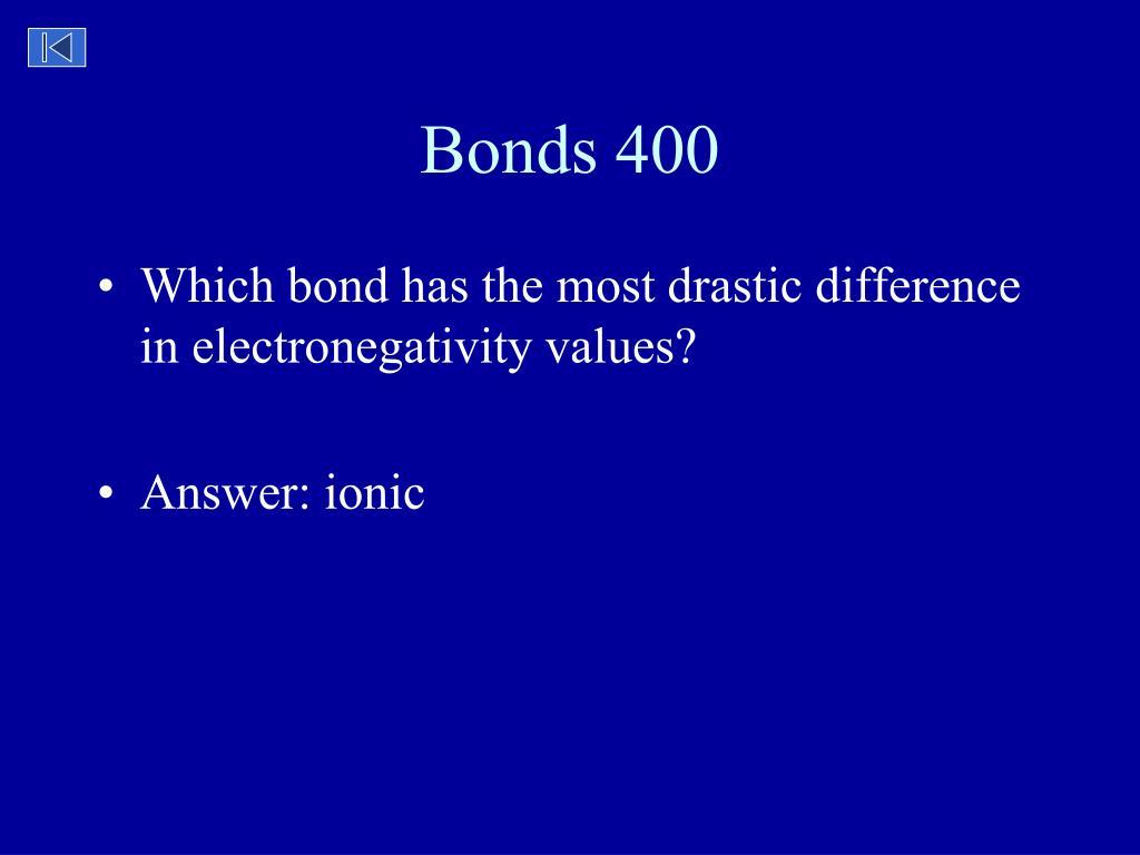 Bonds 400