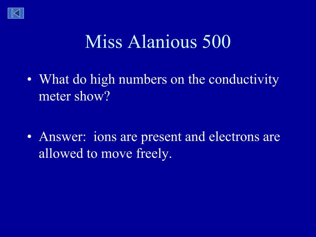 Miss Alanious 500