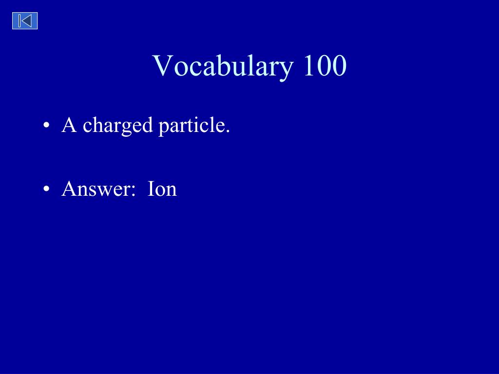 Vocabulary 100