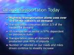 oil and transportation today