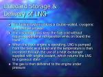 onboard storage delivery of lng