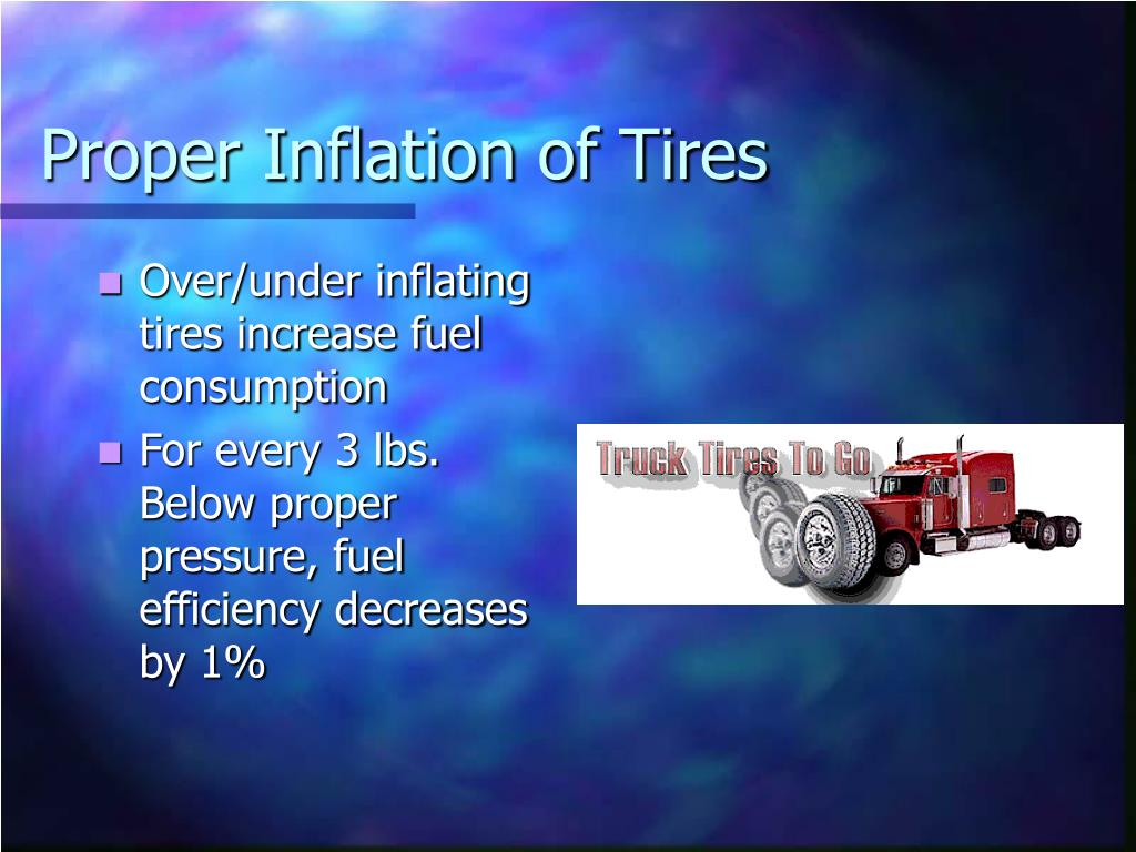 Proper Inflation of Tires
