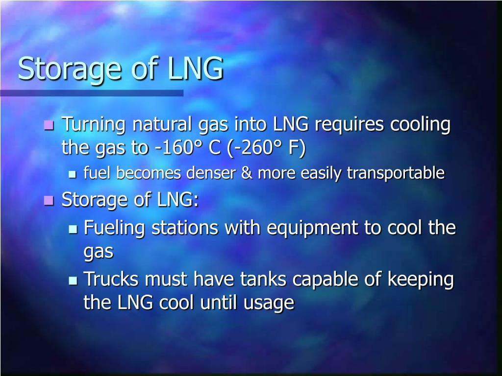 Storage of LNG