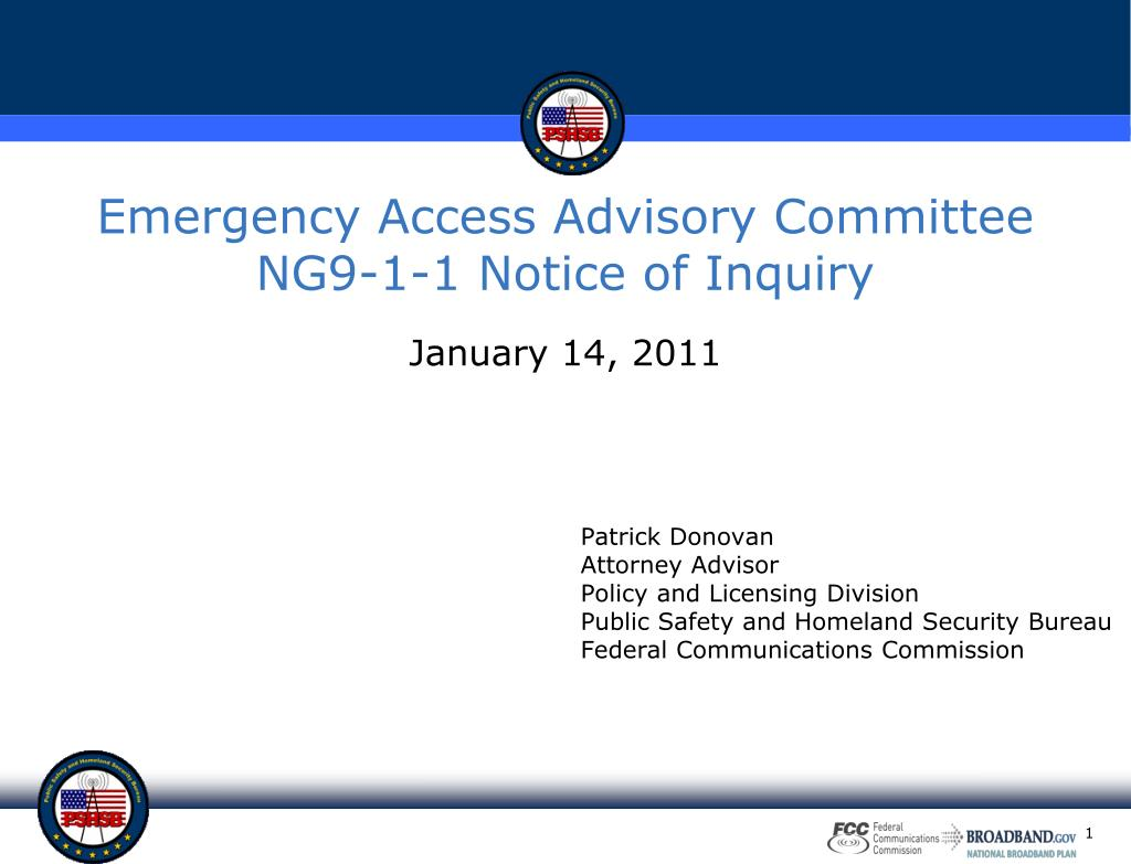 Emergency Access Advisory Committee