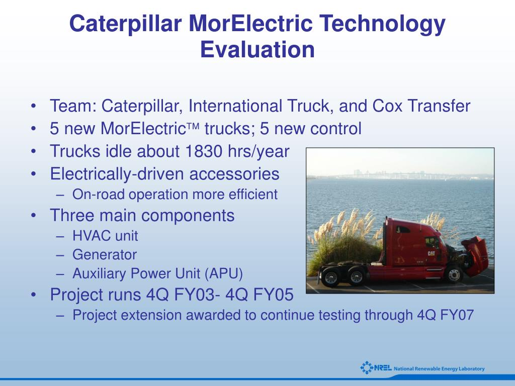 Caterpillar MorElectric Technology Evaluation