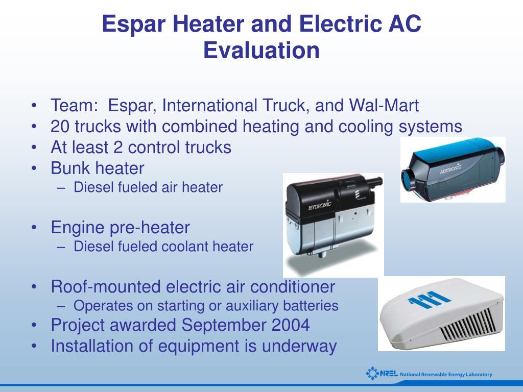 Espar Heater and Electric AC Evaluation