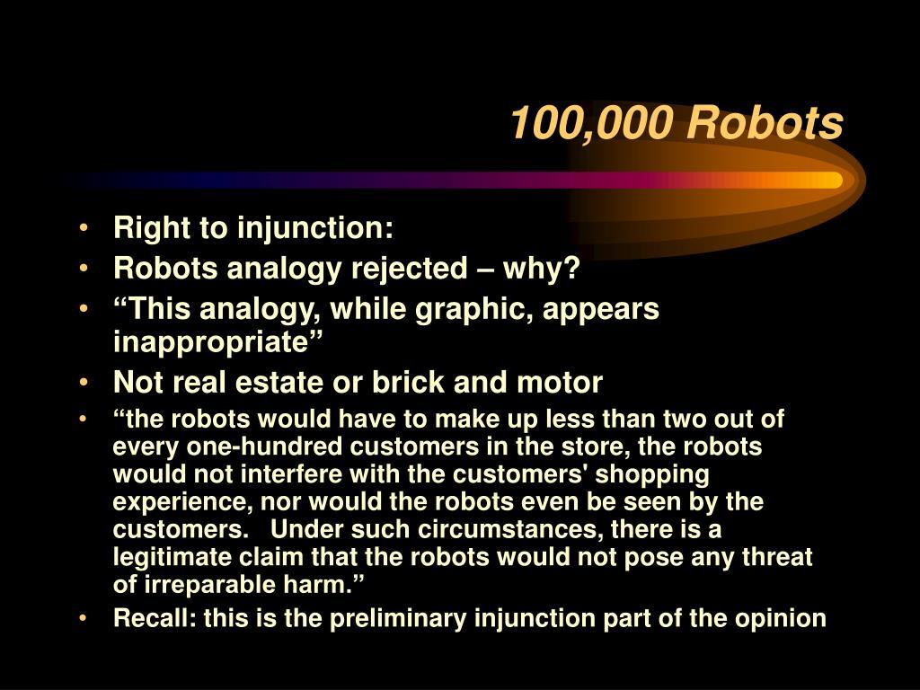 100,000 Robots