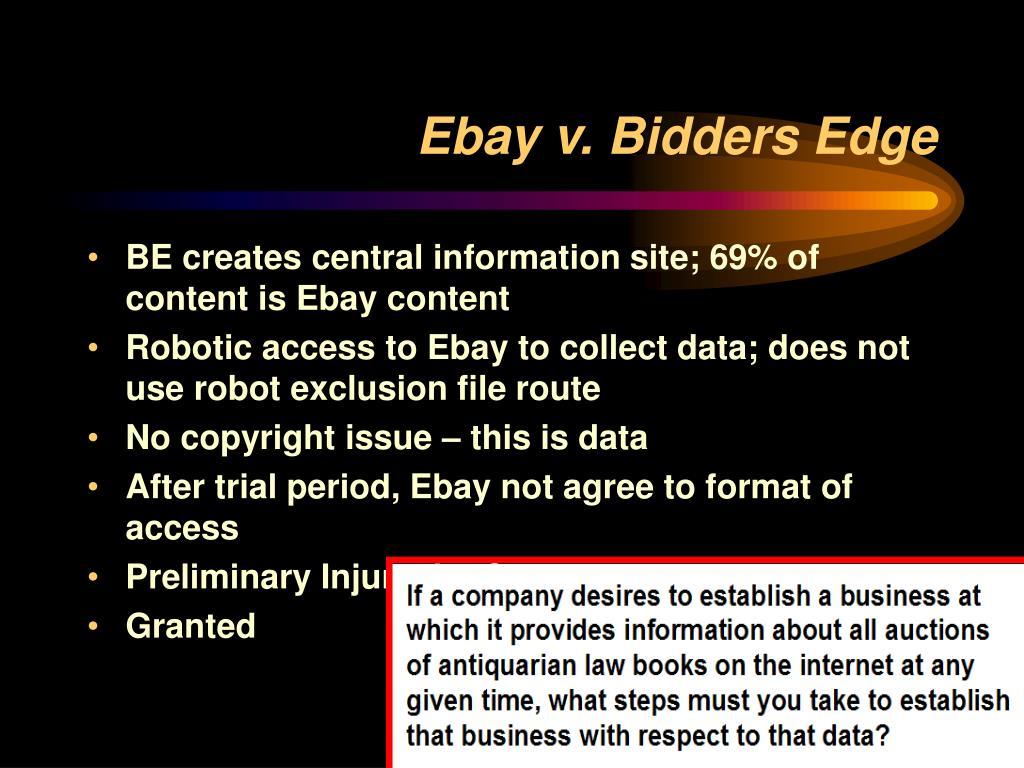Ebay v. Bidders Edge