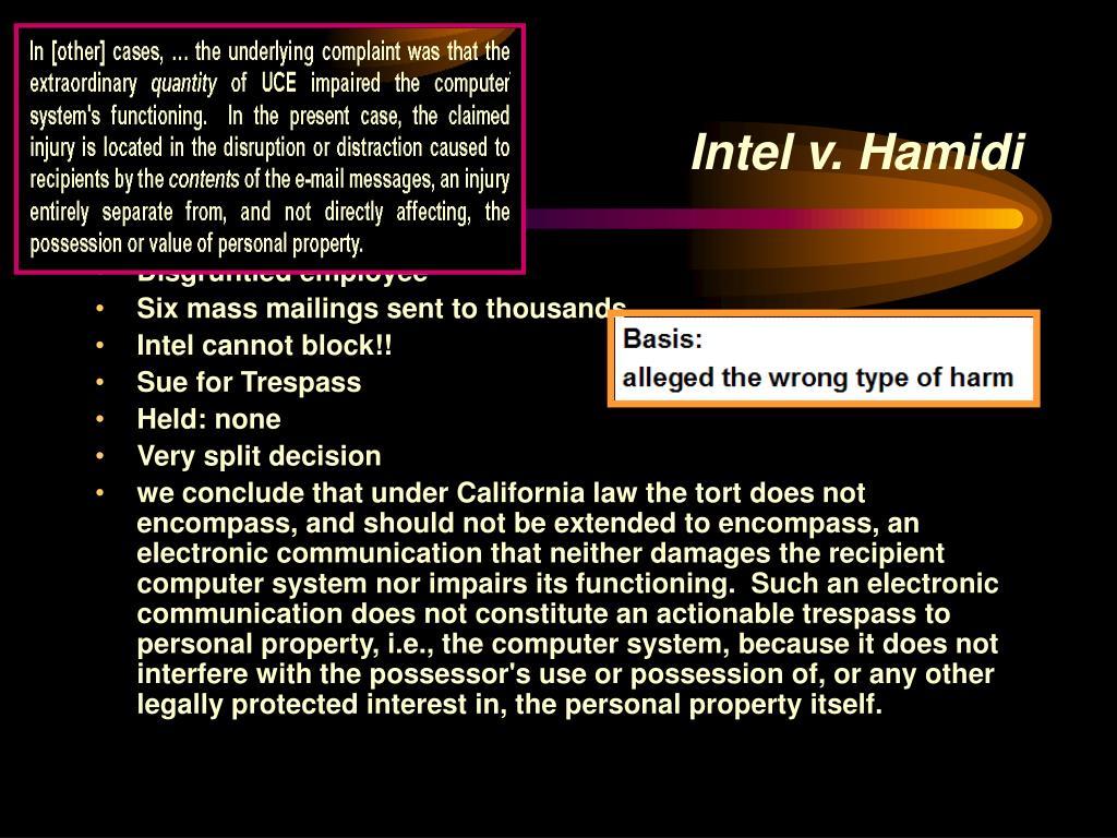 Intel v. Hamidi