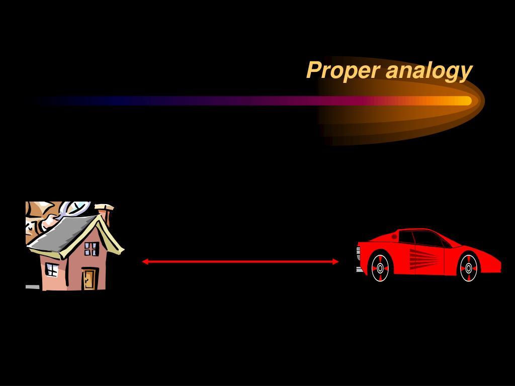 Proper analogy