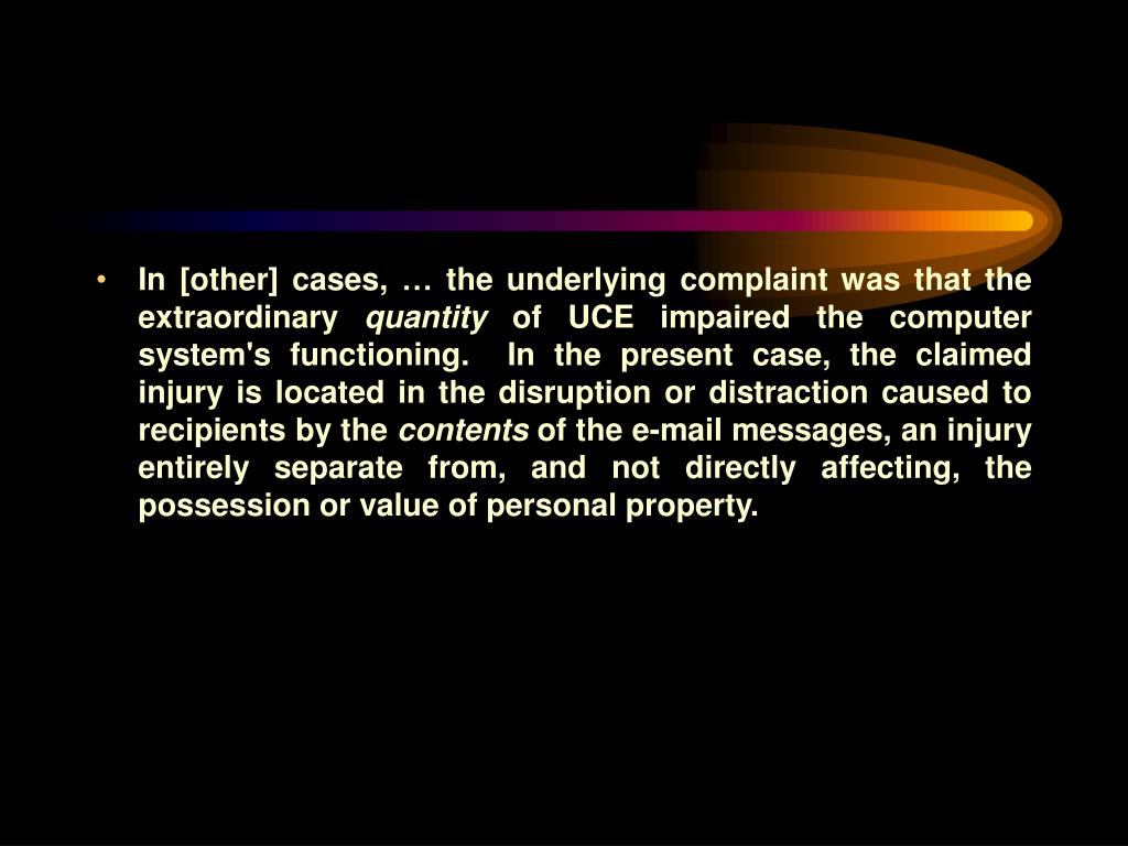 In [other] cases, … the underlying complaint was that the extraordinary