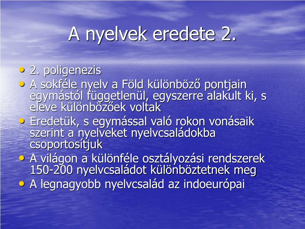 A nyelvek eredete 2.