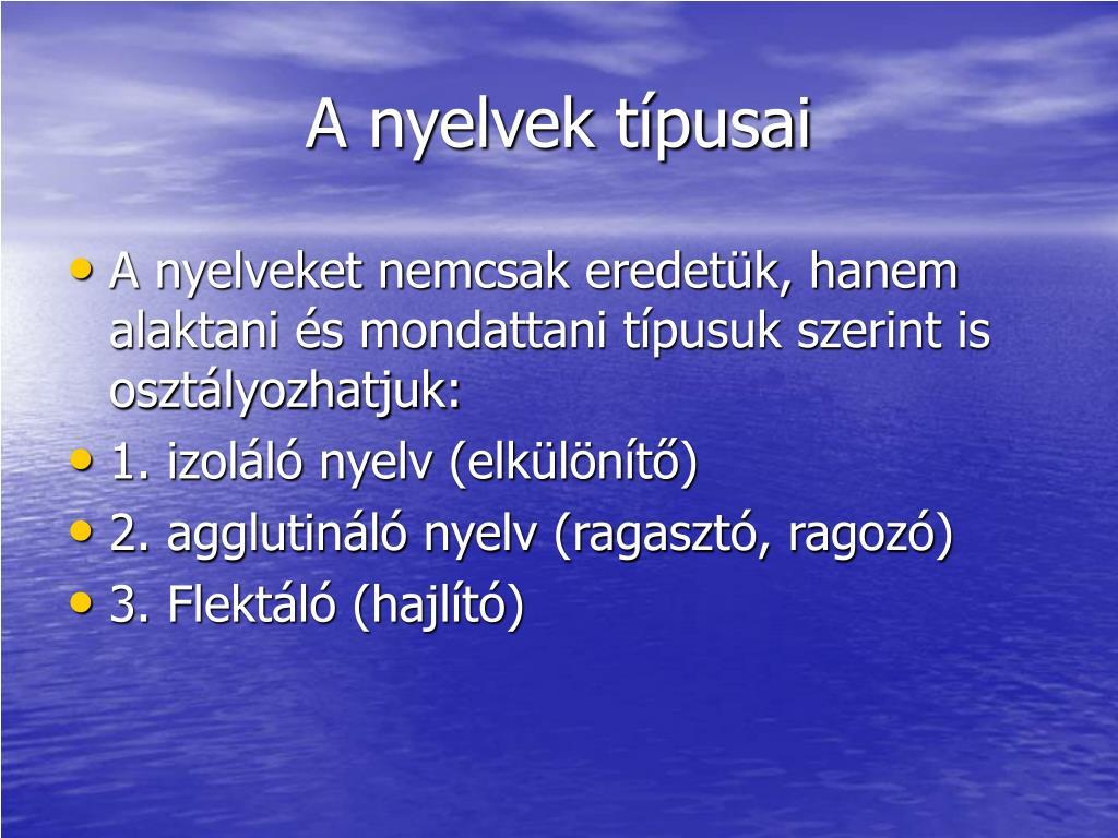 A nyelvek típusai