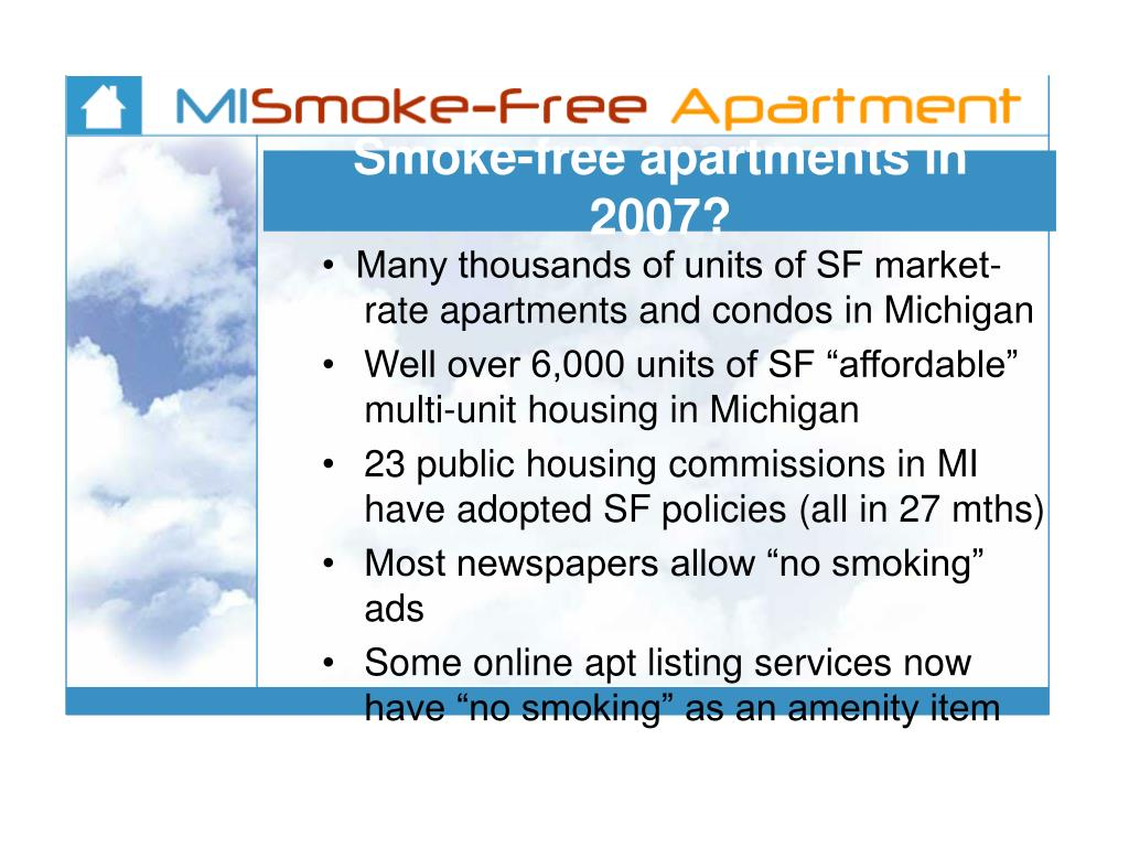 Smoke-free apartments in 2007?