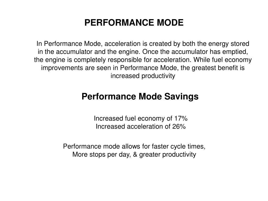 PERFORMANCE MODE