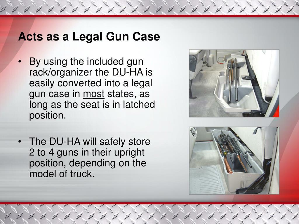 Acts as a Legal Gun Case