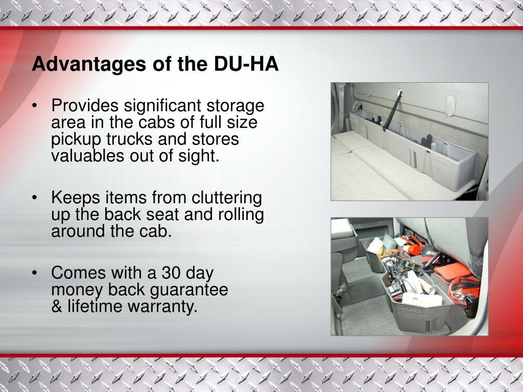 Advantages of the DU-HA