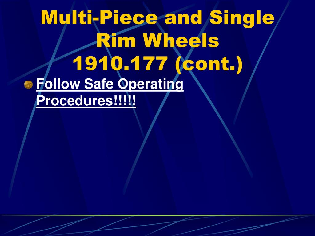 Multi-Piece and Single Rim Wheels