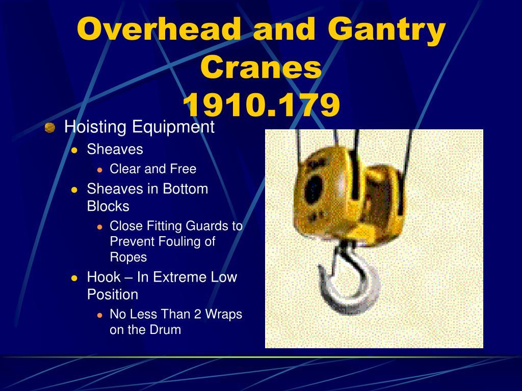 Overhead and Gantry Cranes