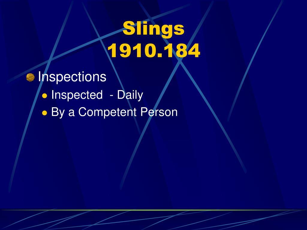 Slings
