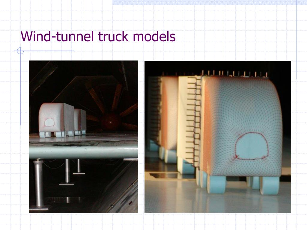 Wind-tunnel truck models