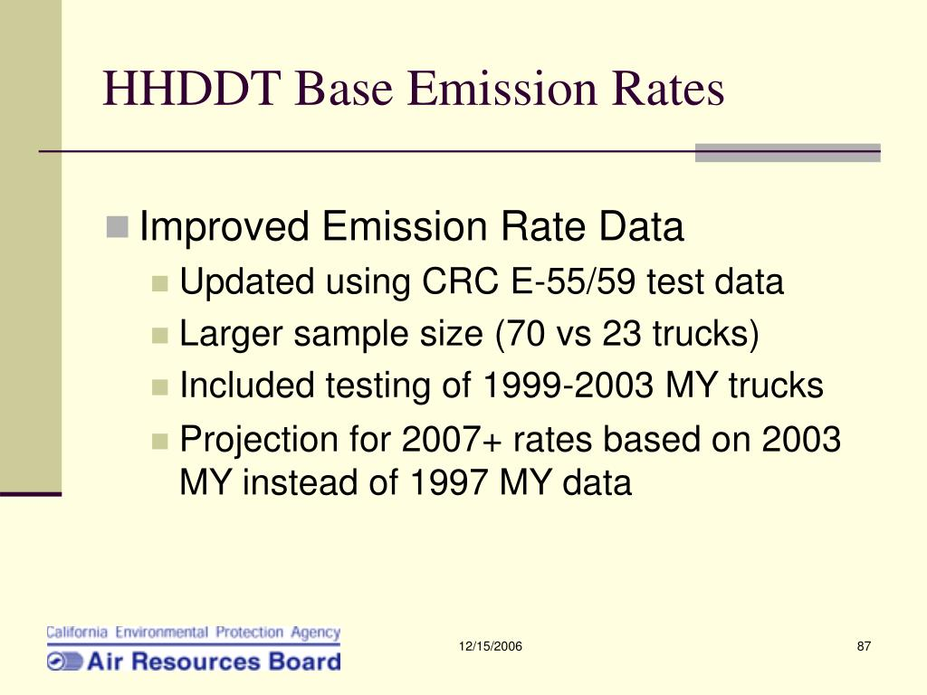 HHDDT Base Emission Rates