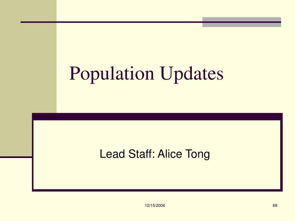 Population Updates