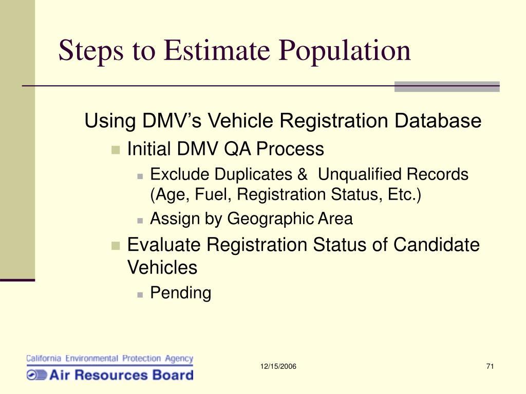 Steps to Estimate Population