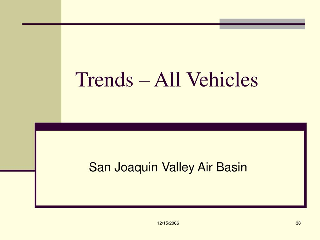 Trends – All Vehicles