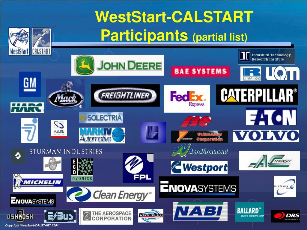 WestStart-CALSTART Participants