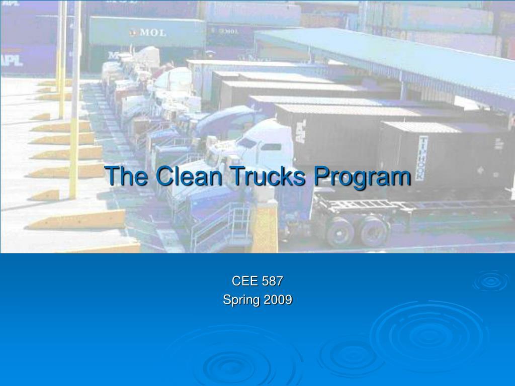 The Clean Trucks Program