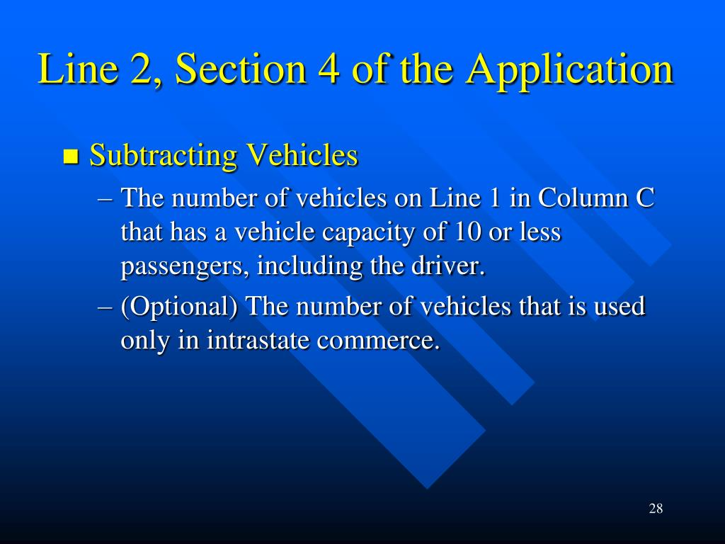 Line 2, Section 4 of the Application