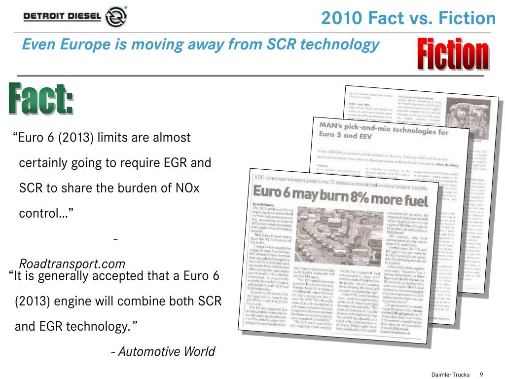 2010 Fact vs. Fiction
