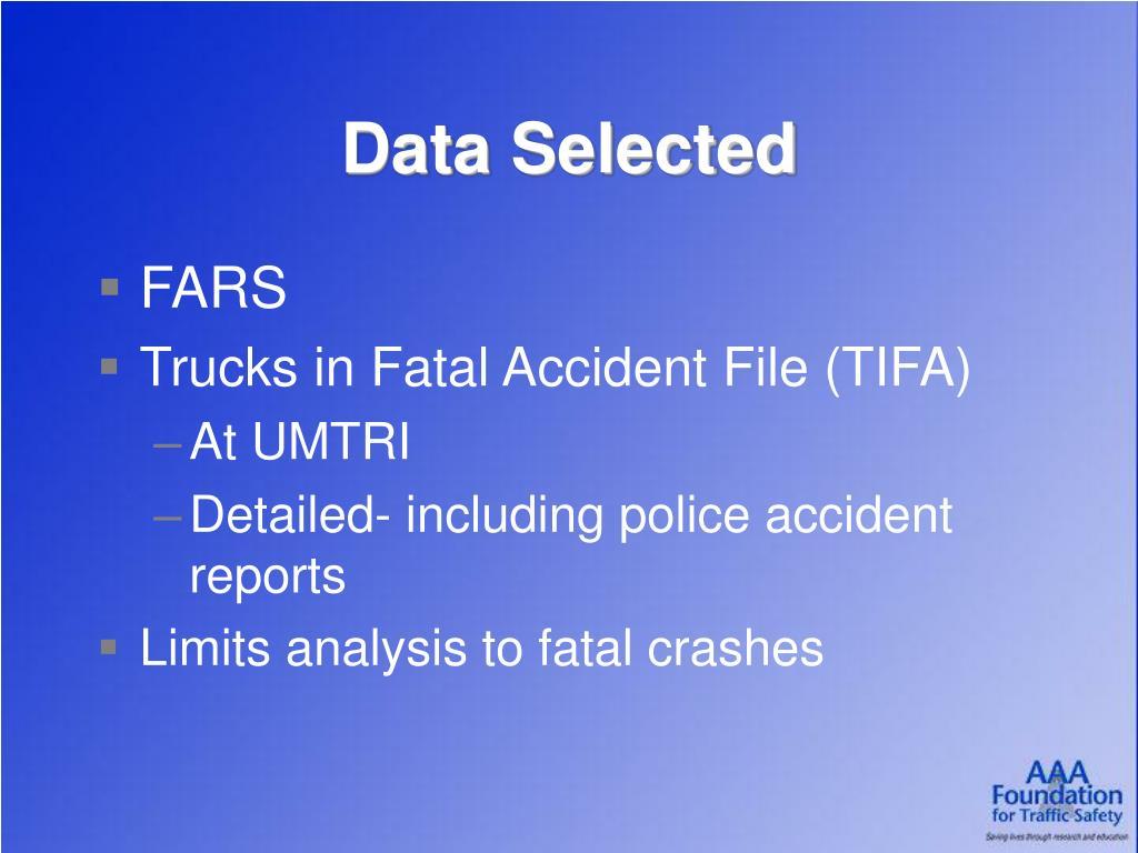 Data Selected
