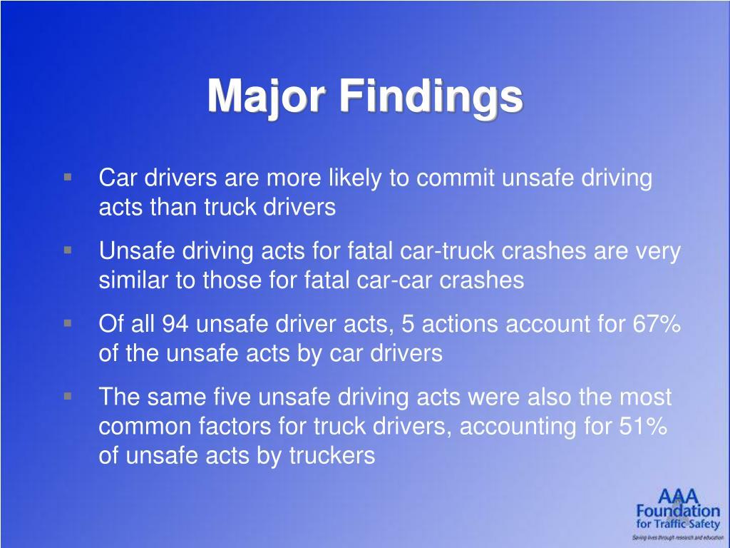 Major Findings