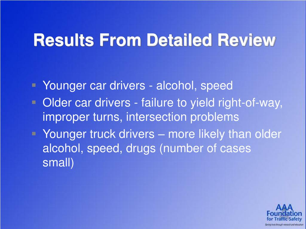 Results From Detailed Review