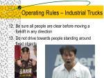 operating rules industrial trucks10