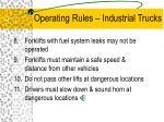 operating rules industrial trucks9