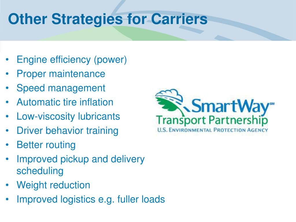 Other Strategies for Carriers