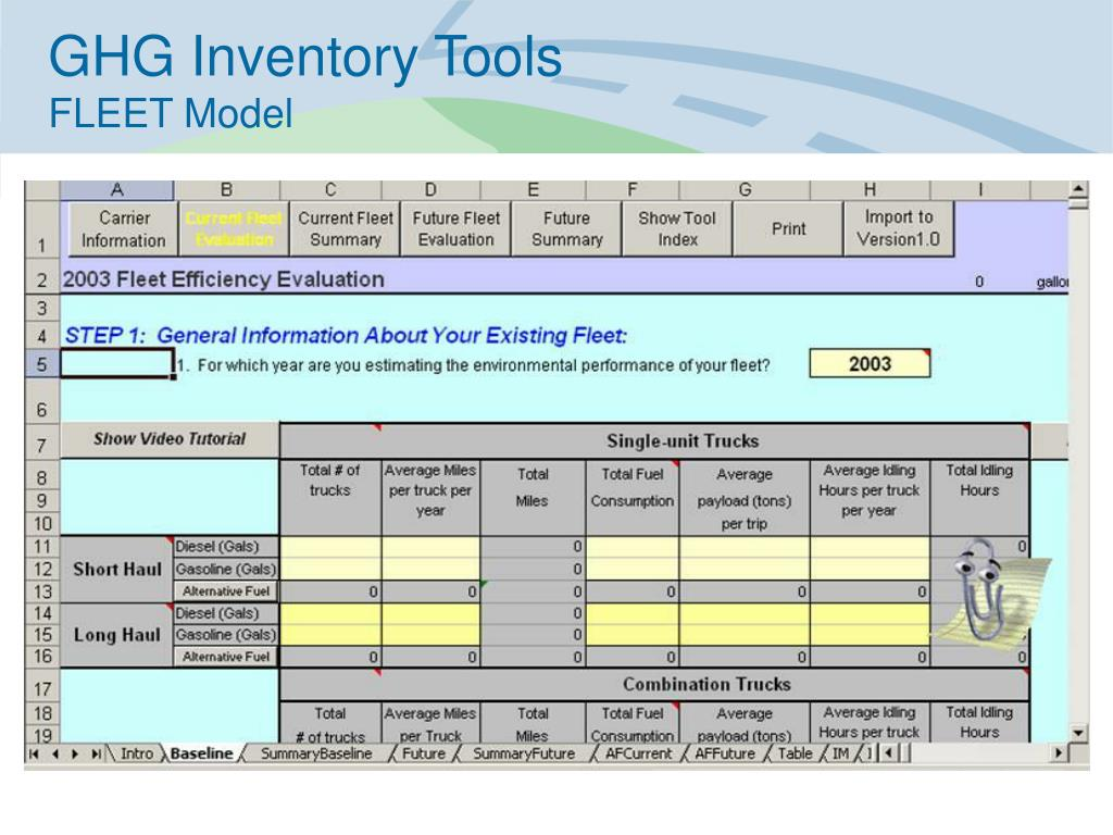 GHG Inventory Tools