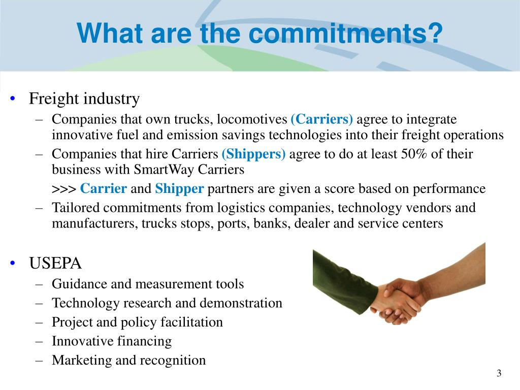 What are the commitments?