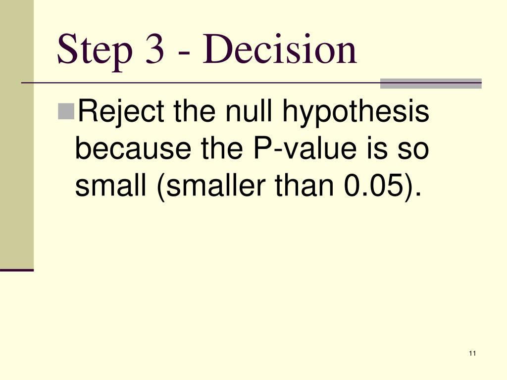 Step 3 - Decision