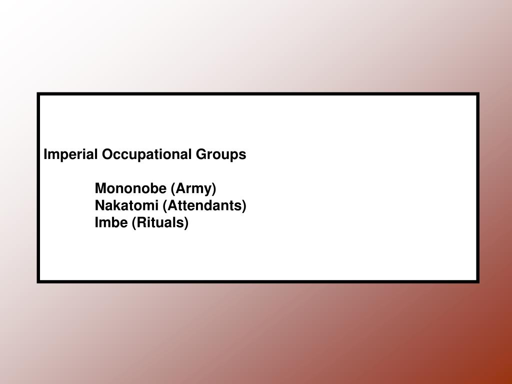 Imperial Occupational Groups