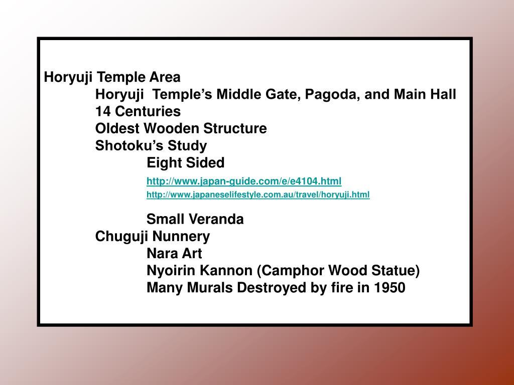 Horyuji Temple Area