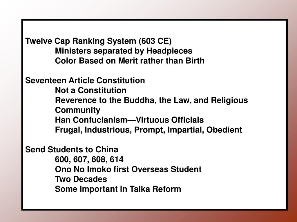 Twelve Cap Ranking System (603 CE)
