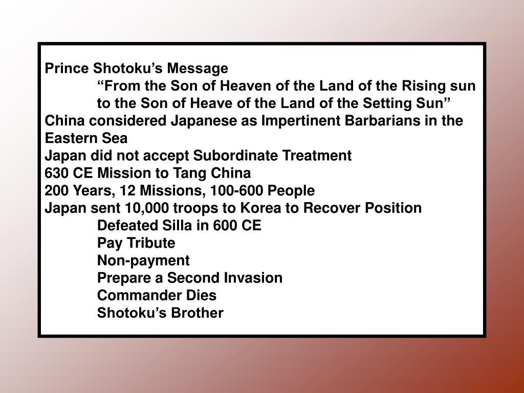 Prince Shotoku's Message