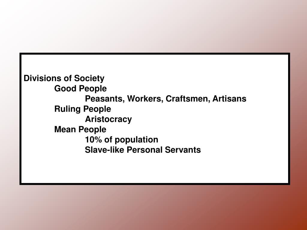 Divisions of Society
