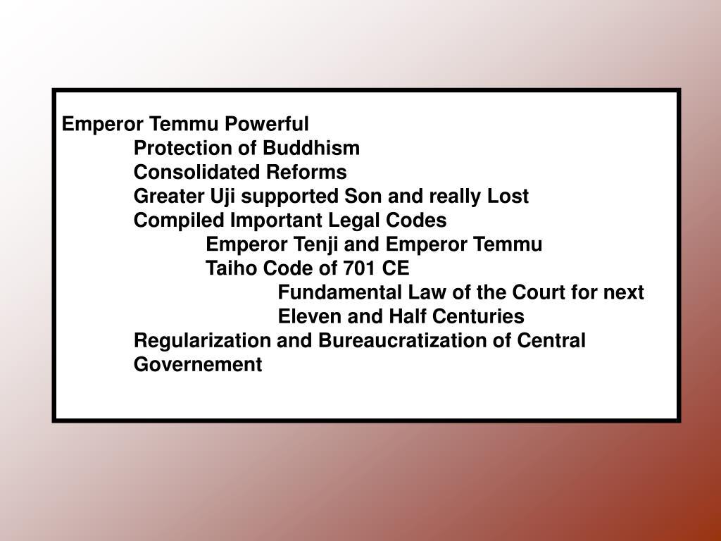 Emperor Temmu Powerful